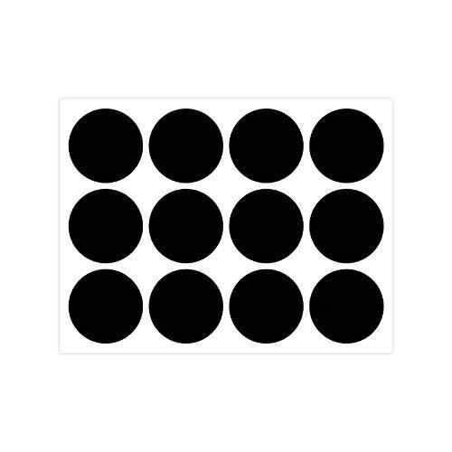 Zwbfu Rótulo de quadro-negro Adesivo reutilizável à prova d'água Adesivos de quadro negro 12 unidades/folha para jarra de recipientes Decoração de festas para casa e cozinhaAutocolante Blackboard
