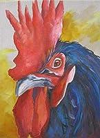 番号でDiyペイントカラフルなオンドリ動物オンドリデジタル絵画油絵キャンバスプリント壁アーティスト家の装飾