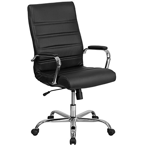 Flash Furniture High Back Office Chair | High Back LeatherSoft Executive Office Swivel Chair with Wheels, BIFMA Certified