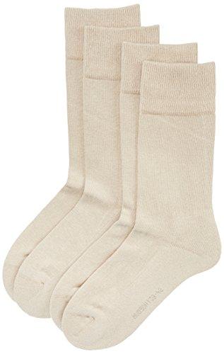 Hudson Herren Socken mit Plüschsohle, 024784 Only Plush, 2er Pack, Gr. 43/46, Beige (Sisal 0783)