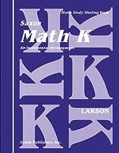 Math K: Homeschool Kit (Saxon Math K Homeschool)