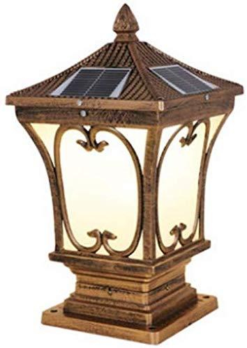 Verlichting gazon blik op de binnenplaats Villa Outdoor vloerlamp huishouden palen kolom lichten brons metalen tuin lamp metaal 45 * 24 cm licht in binnenplaats