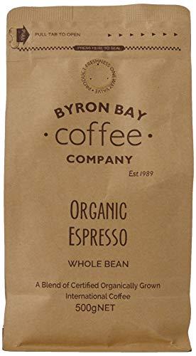 Byron Bay Coffee Company 500g Certified Whole Bean, 0.53 kg, Organic Espresso