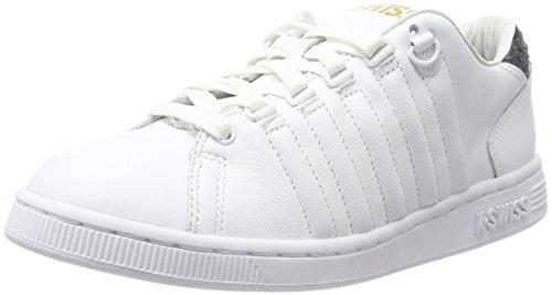 K-Swiss Lozan III TT Reptile Glam Damen Sneaker, Schuhe, Weiß (White/Stargazer), 37.5 EU