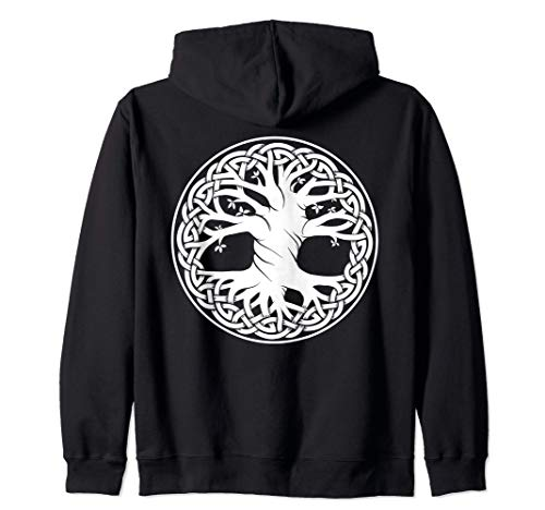 Celtic Knot Tree of Life Zip Hoodie