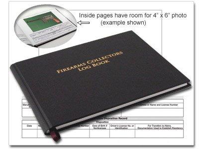 "BookFactory C&R FFL 03 Bound Book/C&R Bound Book/Curio and Relics Bound Book 8 7/8"" x 7"" 72 Pages Black Imitation Leather Cover Professional Grade Smyth Sewn Hardbound (LOG-072-GUNCOLL-LKT39)"
