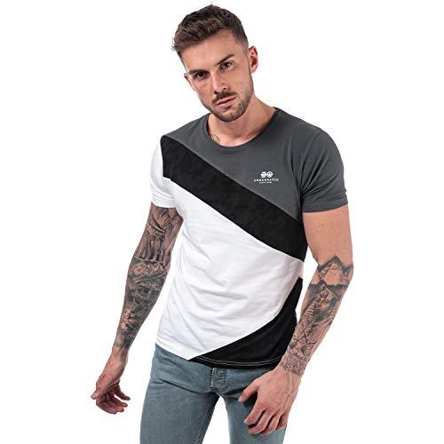 Crosshatch Black Label Herren T-Shirt Gr. L, grau