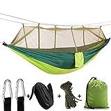 Yeucan Camping Tente Bâche Abri Grand Hamac Léger Bâche Nylon en Plein Air Pique-Nique Fournitures,Vert armée