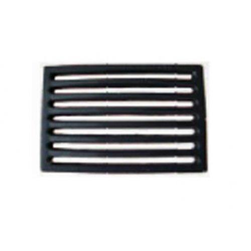 Rejilla de hierro fundido para chimenea - Dimensiones: 29,3 x 21,5 x 2 cm