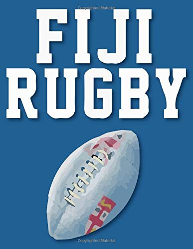FIJI Rugby: Rugby Journal for journaling  Rugby sport Notebook 110 pages 8.5x11 inches  super rugby  coaching rugby  Gift for rugby players men and woman  ball sports