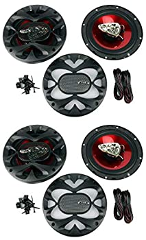 4 New BOSS CH6530 6.5  3-Way 600W Car Audio Coaxial Speakers Stereo Red