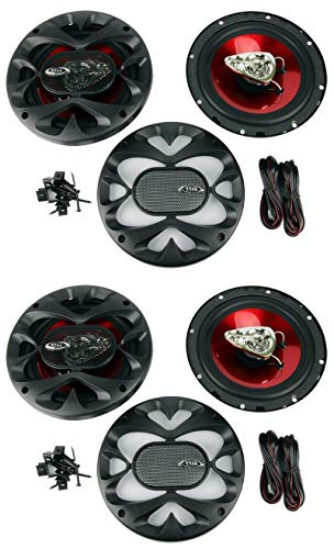 4 New BOSS CH6530 6.5' 3-Way 600W Car Audio Coaxial Speakers Stereo Red
