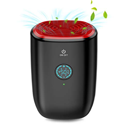 ESHOWEE Dehumidifier,Electric Small Dehumidifiers,Compact 800ml (27 oz) Capacity,Portable Mini Dehumidifier with Auto Shut Off,Quiet Use for High Humidity in Home,Bedroom,Kitchen,Office