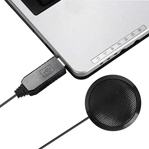 Qioniky 360 Tonaufnahme USB Mikrofon USB Konferenzlautsprecher Konferenzmikrofon fur Konferenzvideo Voice Chat Mikrofon Desktop Mikrofon Office Desktop