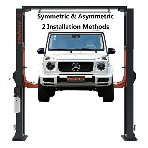 STRATUS Asymmetric & Symmetric Convertible Clear Floor Overhead Direct Drive 10,000 lbs Capacity Car Lift