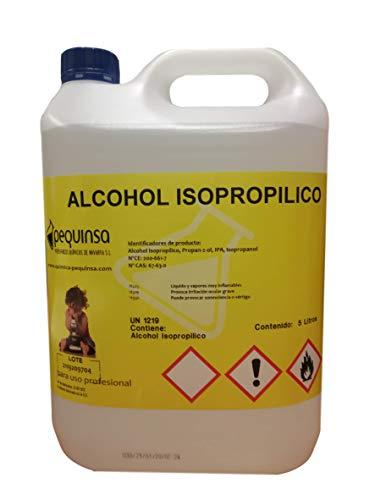 Alcohol Isopropilico 99,8%. Envase 5 Litros. Alta pureza.