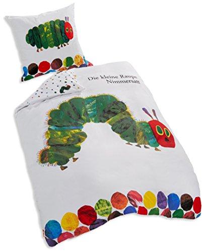 Herding Il Piccolo Bruco Maisazio Set di Biancheria da Letto, Cotton, Multicolore, 135 x 200 cm, 80 x 80 cm