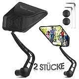 ICOCOPRO Fahrradrückspiegel, 360° verstellbarer Fahrradspiegel links & rechts Endspiegel Glas, drehbarer Rückspiegel Fahrrad für 17.2-20mm, Spiegel Lenkerende für E-Bike Rennräder Mountainbikes