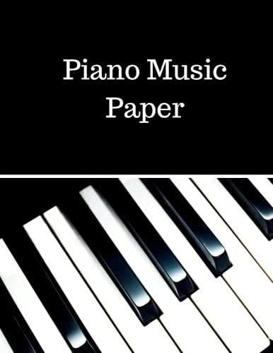 Piano Music Paper: Treble Clef And Bass Clef Empty 12 Staff, Manuscript Sheets Notation Paper For Composing For Musicians,Teachers, Students, Songwriting. Book Notebook Journal 100 Pages