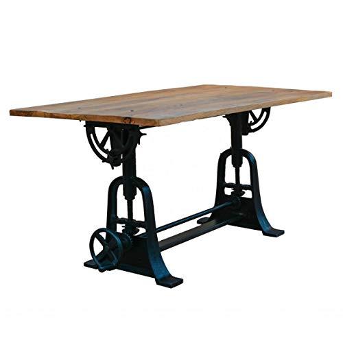 MATHI DESIGN Draw - Mesa de madera de estilo industrial L180