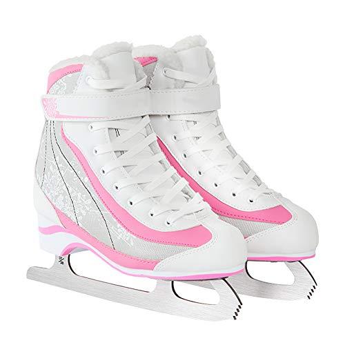 Pinkskattings@ Ice Princess Schlittschuh Sohle Aus Kältebeständiges PVC Schöner Formstabiler Eislaufschuh,39