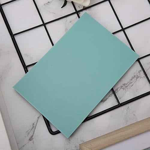 SALUTUYA Bloques de Talla de Goma de 8 Colores claros, Sello de Goma Suave DIY Fino, 15x10cm para álbum de Recortes, Postal, Tarjeta de(Mint Green)
