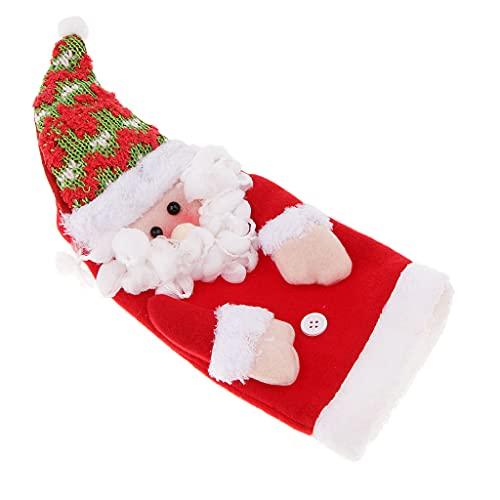 P Prettyia Coperchio Carini per Regalare Bottiglie di Vino, Spumante o per Riempirli con Caramelle e Cioccolatini - Babbo Natale, Come descritto