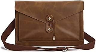 Laptop Bag Universal Genuine Leather Business Laptop Tablet Bag, for 13.3 inch and Below MacBook, Samsung, Lenovo, Sony, DELL Alienware, CHUWI, ASUS, HP (Coffee) (Color : Yellow)