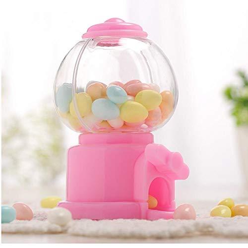 PiniceCore Linda Creativa Dulces de Caramelo Mini Máquina de Burbujas de Color Rosa dispensador de Monedas del Banco niños de Juguete