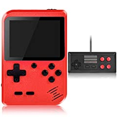 🍅 【400 CLASSIC GAMES, FUN FOR KIDS & ADULTS】 The Kiztoys handheld game console has 400 built-in classic handheld games, like action, sports, racing, shooting, fighting games and etc., not only bringing the funny game time to children, but also waking...