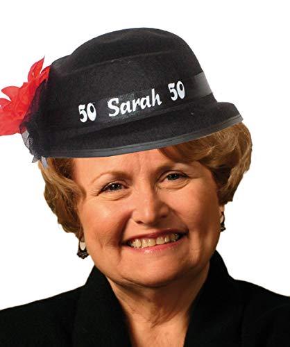 Hoed - Zwart - 50 Jaar - Sarah