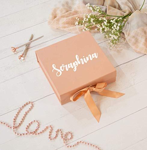 Geschenkbox Hochzeit personalisiert groß rosegold rosa Trauzeugin Brautjungfer Geburtstag
