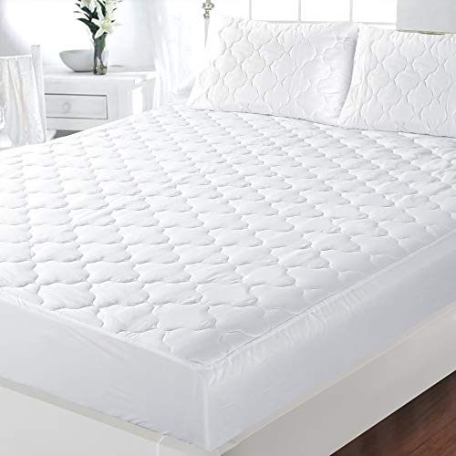 ZNR Triple Filled Quilted Mattress Protector | Mattress Toppers Double | 40 CM Extra Deep Skirt | Fitted Sheet Style Bed Cover | Hypoallergenic | Dust Mite Proof | Breathable | Noiseless