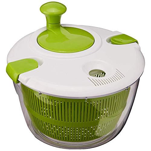 SODIAL Ctg-00-Sas Casserole à Salade, Vert et Blanc