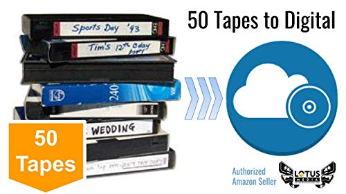 Best Price 50 Pack - Video Tape Transfer and Digitization to MP4 Service (VHS, Hi8, MiniDV, Digital8...