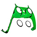 eXtremeRate Chrome Green Decorative Trim Shell for PS5 Controller, Replacement Clip Shell for PS5 Controller, Custom Plates Cover for Playstation 5 Controller w/Accent Rings - Controller NOT Included
