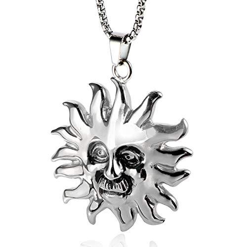Collar Con Colgante De Sol, Joyería De Acero De Titanio, Mitología Griega, Patrón Del Santo, Joyería Retro Pop Punk, Collar Para Hombre