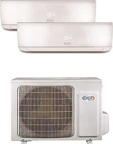 Climatizzatore Dual Split 9+9 Btu, Inverter con Pompa di calore, A++/A+ - Argo Ecowall Dual