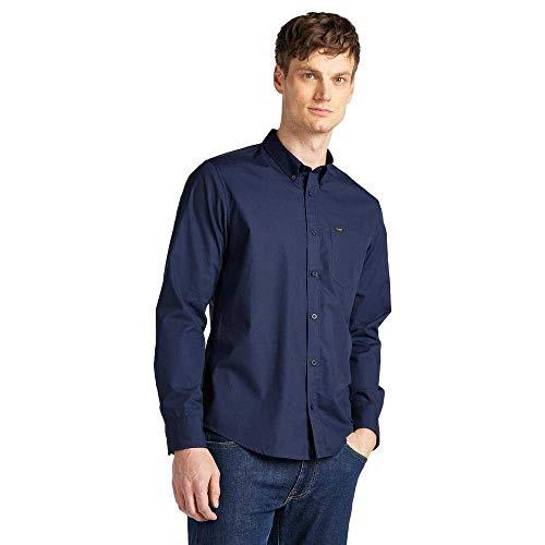 Lee Button Down Camisa Casual, Azul (Navy 35), Medium para Hombre