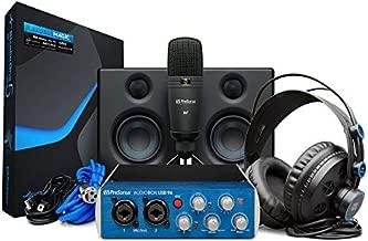 PreSonus AudioBox Studio Ultimate Bundle Complete Recording Kit with Studio Monitors and Studio One Artist and Ableton Live Lite DAW Recording Software