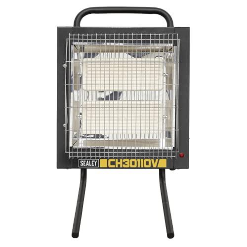 Sealey CH30110V Calentador de cerámica de 1,2/2,4 kW – 110 V