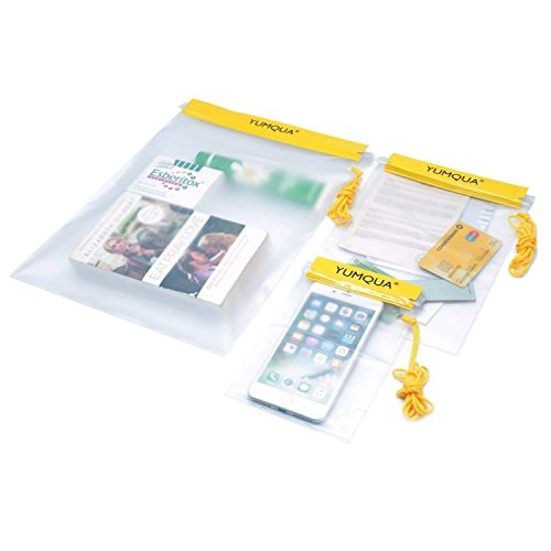 YUMQUA Bolsos impermeables, Funda Impermeable para Cámara, iPad, Teléfono móvil, Documento y más, de 3 piezas