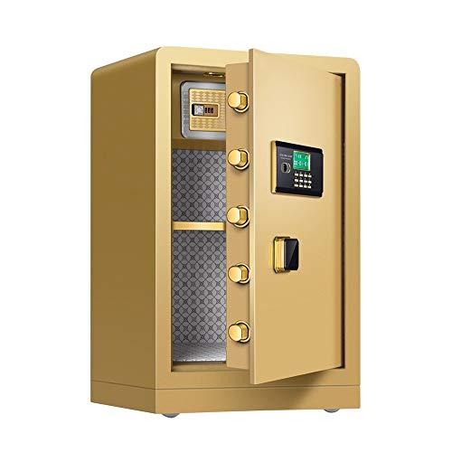 ZSAIMD Hoch Home Office Elektronisches Passwort Sicherheit Sicheres Kabinett Sicher Versicherung genehmigt, Motor Arretierbolzen, LCD-Bildschirm Großes Tresore Chest-Alarmsystem