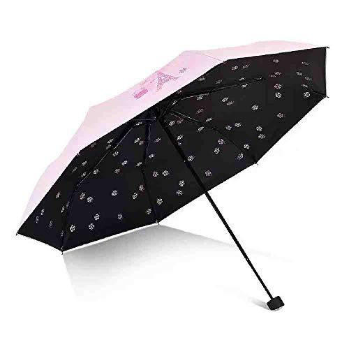 BJDKF paraplu Paraplu Voor Vrouwen Vouwen Bloem Licht Chinese Draagbare Heldere Meisje Parasol Winddichte Kwaliteit Zon Regen Paraplu's Te Koop, roze
