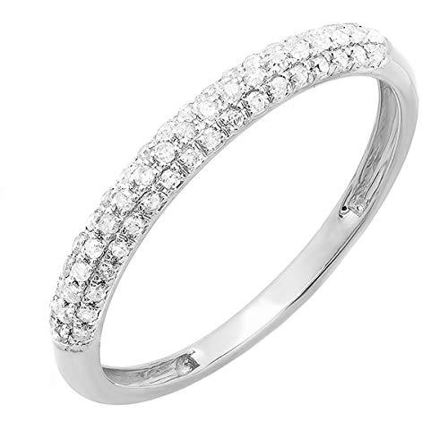 platinum and diamond wedding band - 8