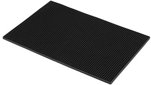 Zwarte kleur waterdichte zachte praktische barmat antislip design aanrecht morsmatten voor het plaatsen van glazen kopjes en ander servies Huis keukengenerous