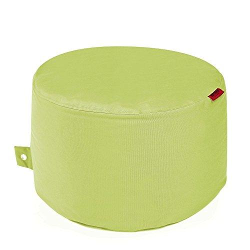 Rock Plus Outdoor-zitzak, kruk, weerbestendig, vorstbestendig, tafel, tuinstoel, tuinstoel, tuinligstoel, tuinligstoel, voor buiten, lounge, tuinmeubelen, moderne look Durchmesser ca. 60 cm lime