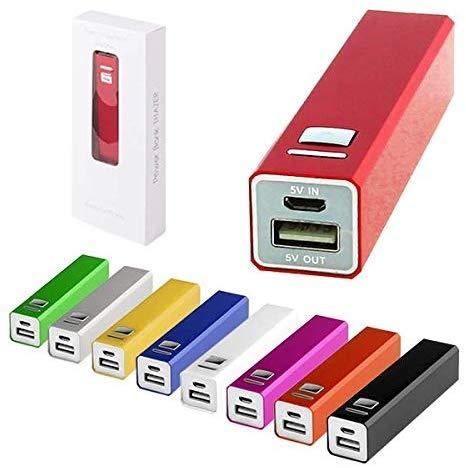 30 stuks Power Bank aluminium 2200 mAh met kabel in presentatiebox - Micro USB - powerbank, voordelige powerbanks reclamegeschenken en reclameartikelen