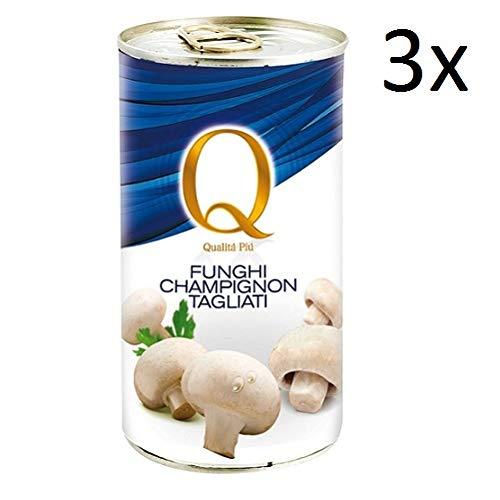 3x Qualità Più funghi champignons Pilze 355 g dose Italienische Gemüse
