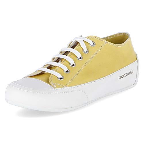 Candice Cooper Rock 01 Sole gelb Tamponato (Kalbleder) Base weiß Damen Sneaker Größe 39